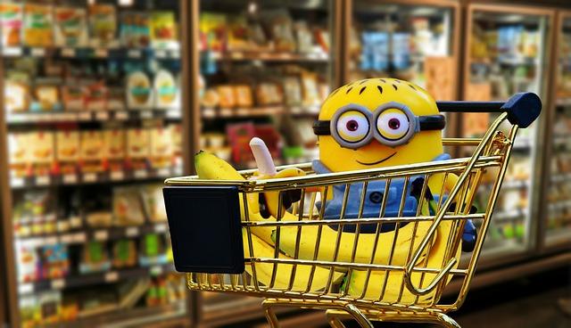 minion in shopping cart