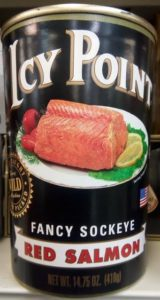 can of Icy Point salmon
