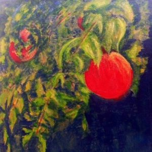 Painting of Pomegranates by Leah Laker