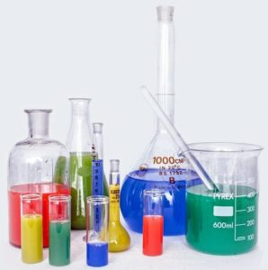 Chemistry lab beakers
